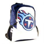 Tennessee Titans Backpack, Navy Blue & White